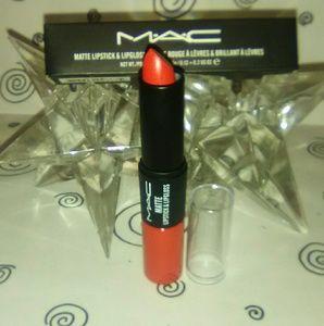 "MAC ""Sin"" 2 In 1 Matte Lipstick + Lipgloss"